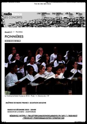 Pionnières | Maison de la Radio